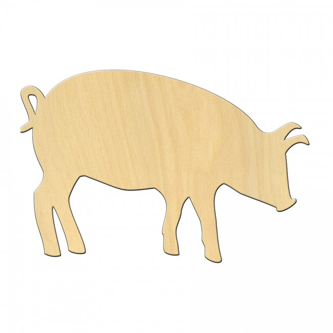 """Wooden pc. for art 474 """"Pig"""" 14*9 cm"""
