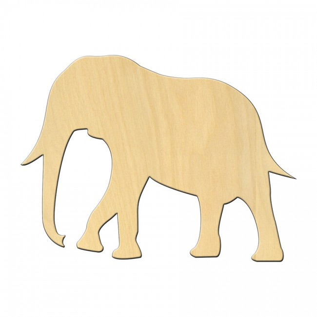 "Wooden pc. for art 475 ""Elephant"" 13,3*9 cm"