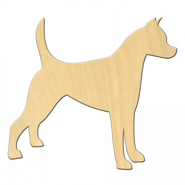"""Wooden pc. for art 476 """"Dog №1"""" 11*10 cm"""