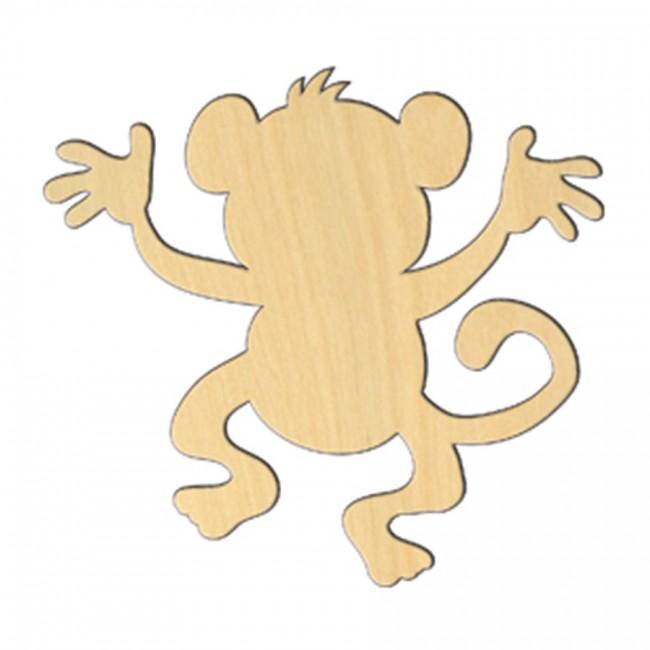 """Wooden pc. for art 481 """"Monkey № 3"""" 11*10,2 cm"""