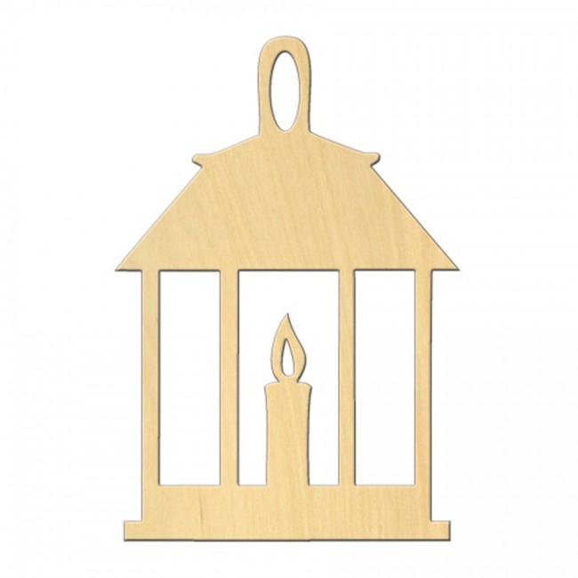 """Wooden pc. for art 497 """"Lantern"""" 8,2*12 cm"""