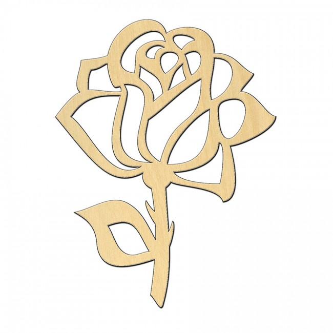 """Wooden pc. for art 511 """"Rose"""" 7,3х9,5 cm"""