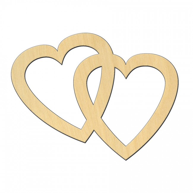 "Wooden pc. for art 522 ""Two hearts"" 10х7,6 cm"