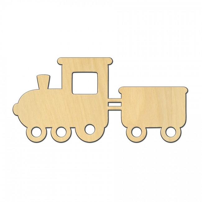 """Wooden pc. for art 539 """"Train №2"""" 12,5х6 cm"""