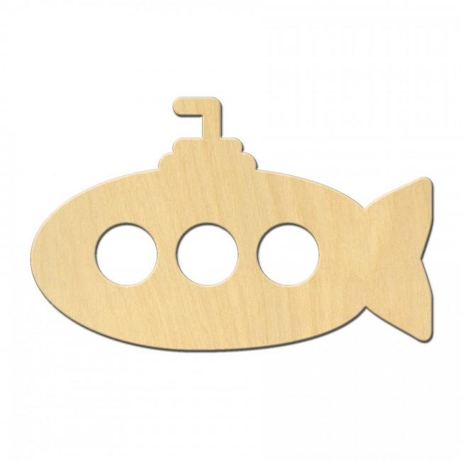 """Wooden pc. for art 540 """"Submarine"""" 10,5х6,6 cm"""