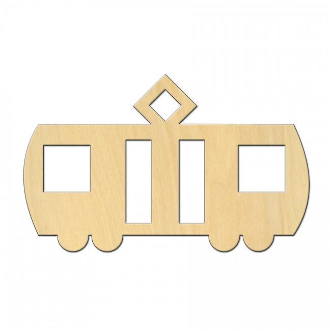 """Wooden pc. for art 544 """"Tram"""" 12,5х7,8 cm"""