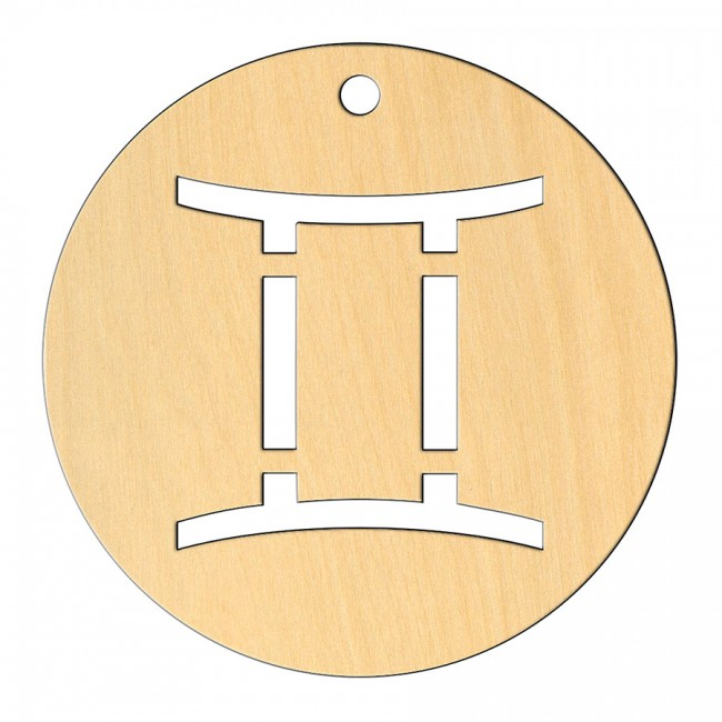 """Wooden pc. for art 549 """"Gemini"""" 8х8 cm"""
