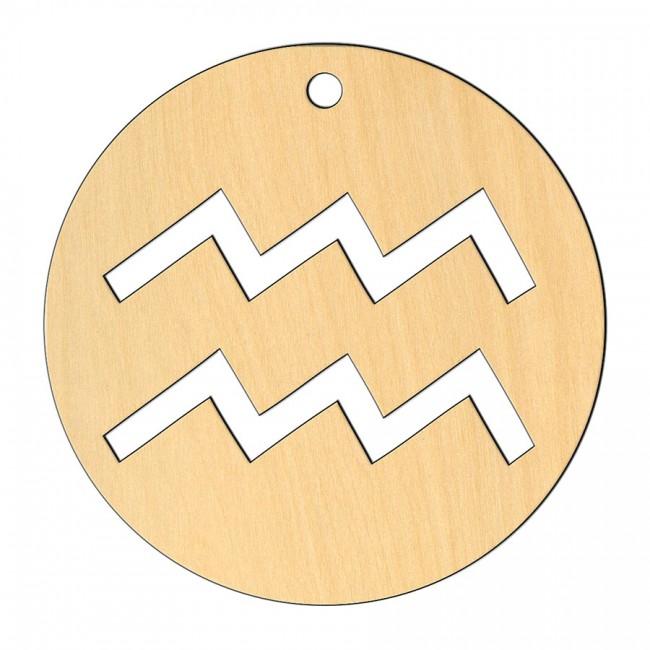 """Wooden pc. for art 557 """"Aquarius"""" 8х8 cm"""