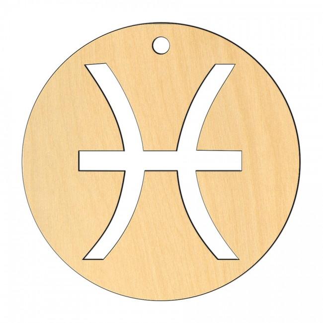 """Wooden pc. for art 558 """"Pisces"""" 8х8 cm"""
