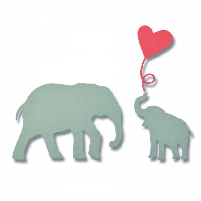 -50%  Thinlits Die Set 3Pk Baby Elephant By Debi Potter