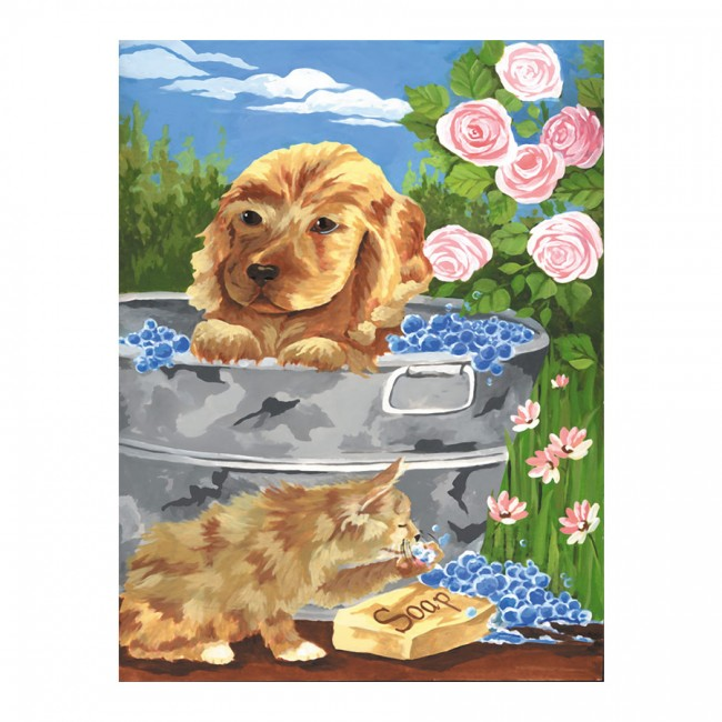 BATHTIME FRIENDS MINI PAINTING BY NUMBERS