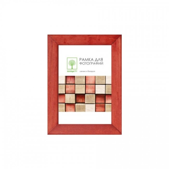 Wooden frame with glass 13х18 Д18К/SAD-35 (terracotta)