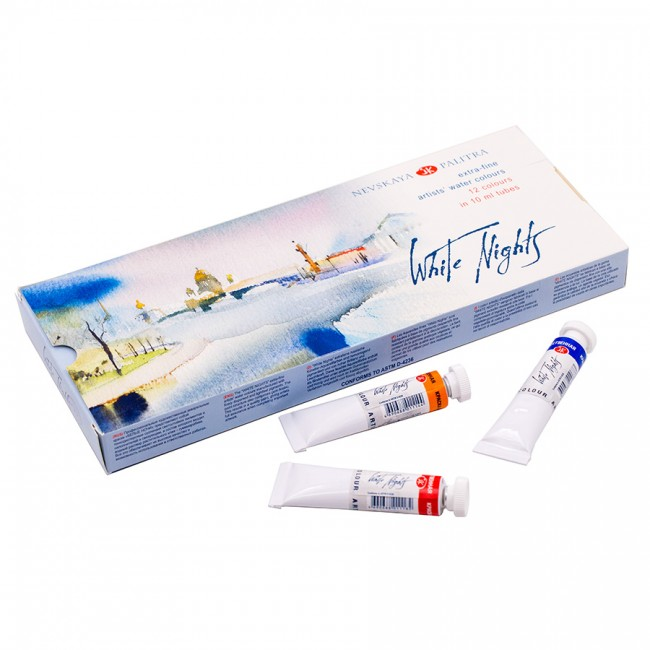 Watercolour set White Nights in tubes 12x10ml