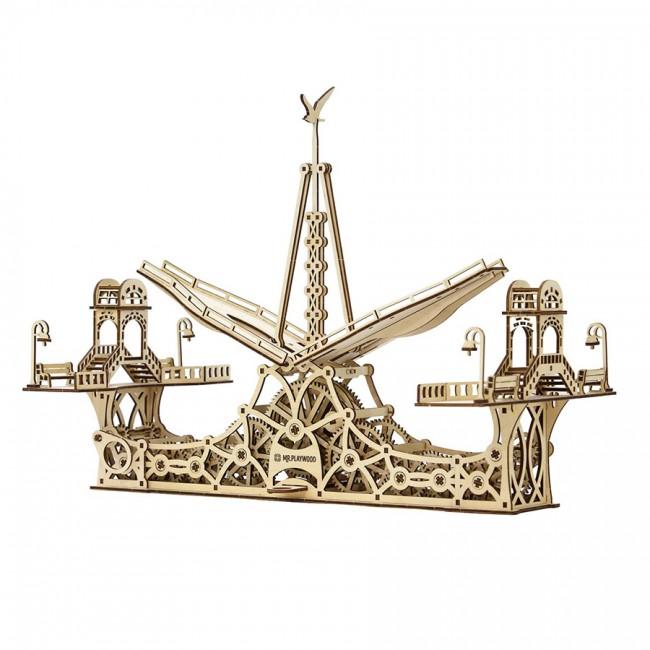 Mechanical Wooden model Pedestrian bridge