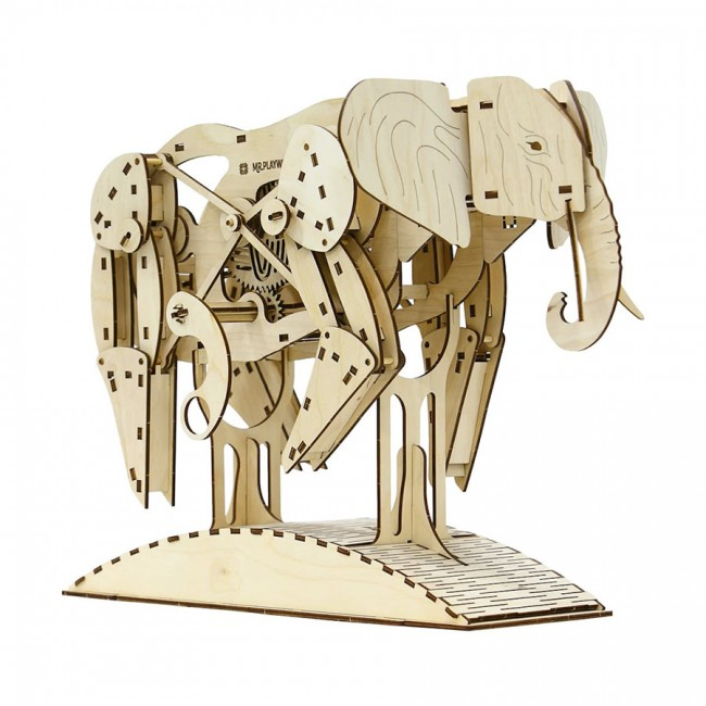 Mechanical Wooden model Elephant