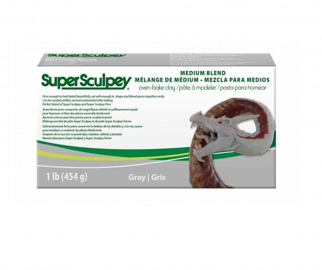 Super Sculpey Medium Blend -- Gray, 1 lb. (454 g)
