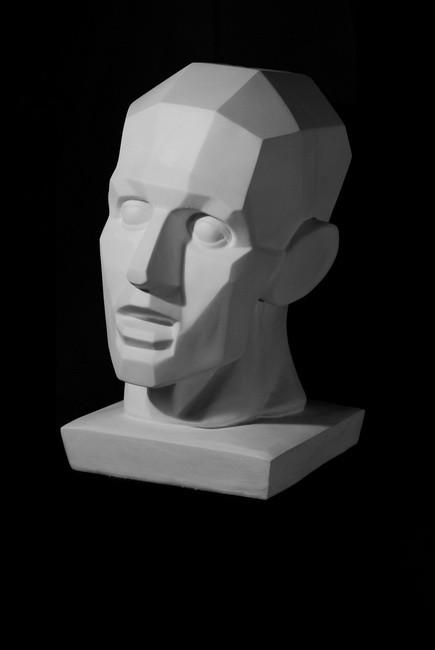 Plaster Cast  Houdon Angular Head