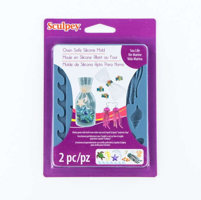 Scupley Silicone Bakeable Mold -- Sea Life - NEW!