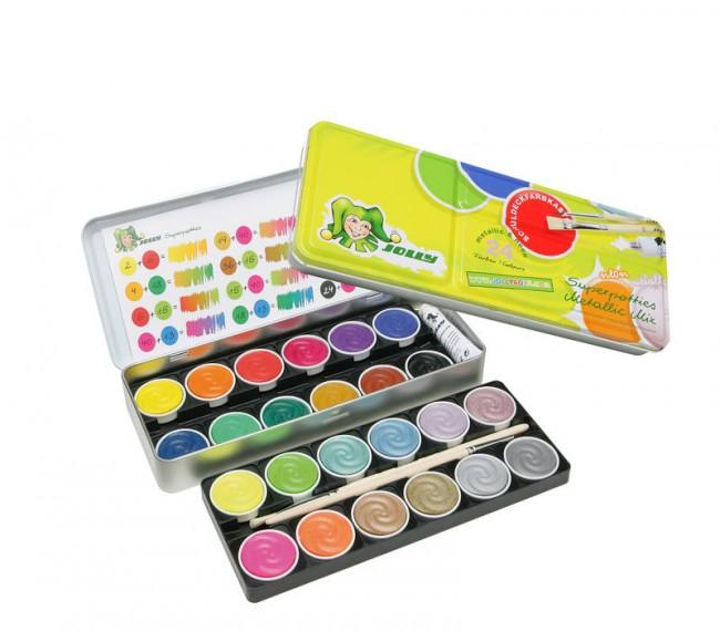 "Watercolour Set ""Jolly""  MIX,24 colours"