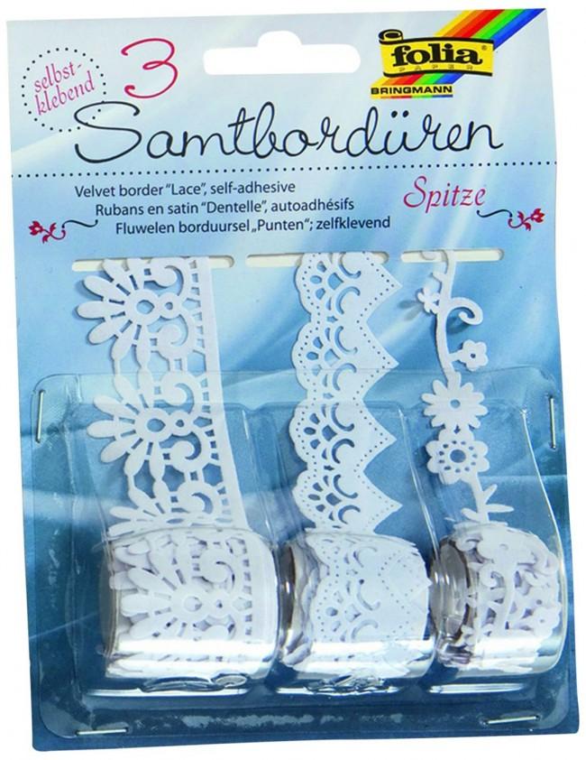 Velvet borders.3pcs*1m  Lace design