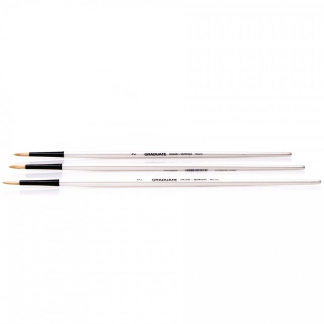 Bristle brushes, round,  Daler-Rowney