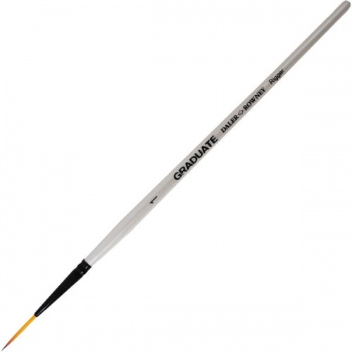 Synthetic brushes.rigger SHORT HANDLE Daler-Rowney