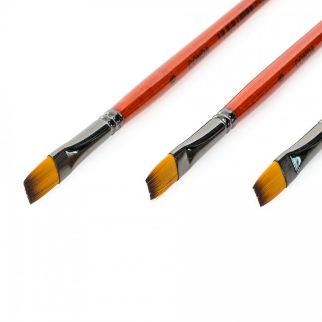Synthetic brushes, flat