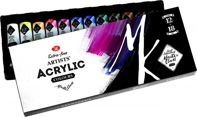 EXTRA FINE Acrylic colours Master-Class 12x18ml