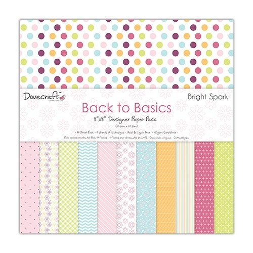Paper and Cardstock pads 20x20cm, Dovecraft, Bright Spark
