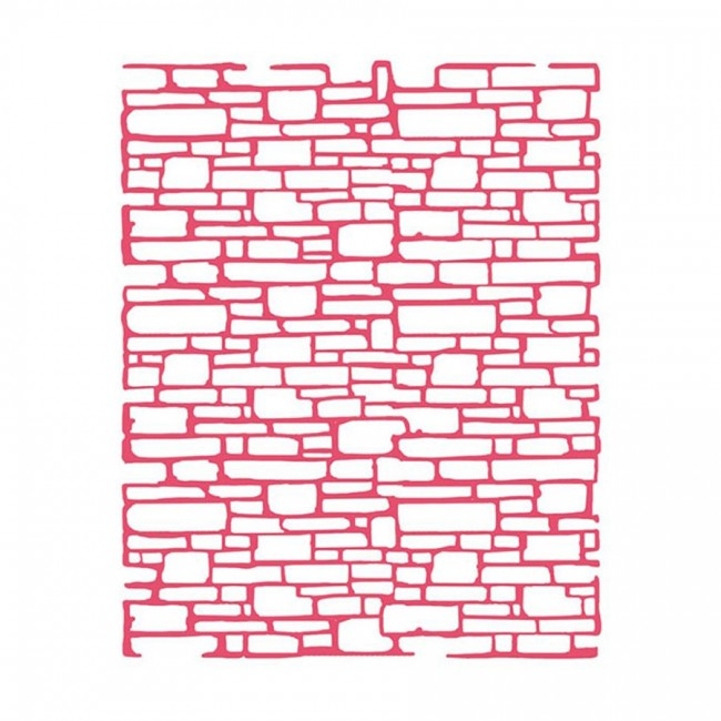 Thick Stencil Cm. 20X25/0,2Mm Bricks Texture