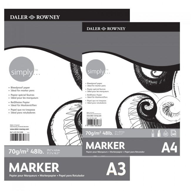 SIMPLY A4 MARKER PAD 40SH/70G