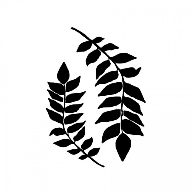 Stencil G Cm. 21X29,7 Branches With Leaves