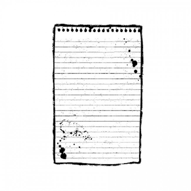Hd Natural Rubber Stamp Cm.7X11 Block Notes