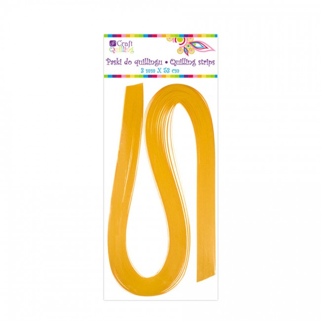 Quilling Strips 3 Mm - Yellow, 100 Pcs