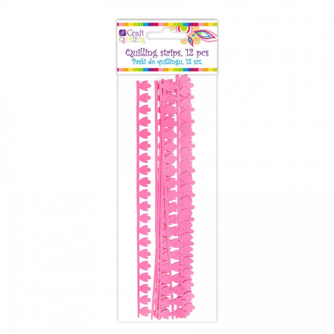 Peony Petal Quilling Strips - Pink, 12 Pcs