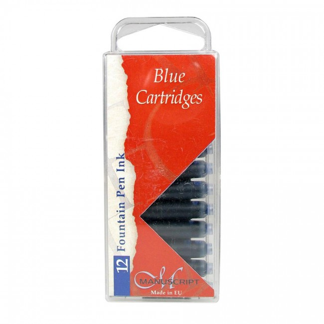 Calligraphy Blue Ink Cartridges 12pcs