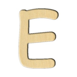 "Wooden pc. for art 159 ""Letter Е (russ.)"" 4,6х7 cm"