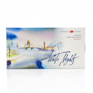"Water colour ""White Nights"",24 Pans Set, Plast box"