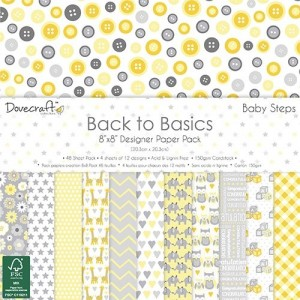 Dovecraft Back to Basics Baby Steps 8x8 Paper Pack