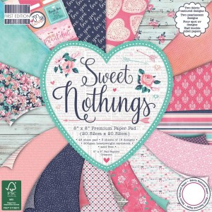 First Edition 8x8 FSC Paper Pad Sweet Nothings