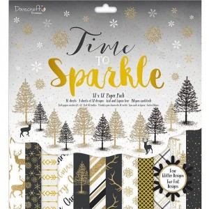 Dovecraft Time to Sparkle FSC 12X 12 Paper Pad