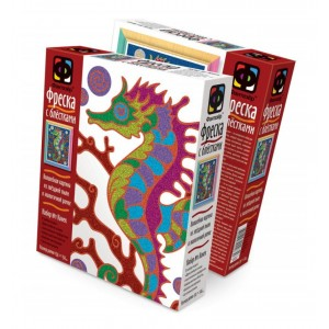 "407057Е The set Glossy fresco №1 ""Sea horse"""