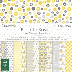 Dovecraft Back to Basics Baby Steps 6x6 Paper Pack
