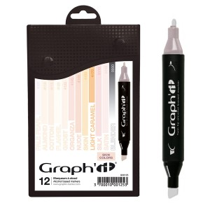 GRAPH'IT Marker, Set of 12 - Skin