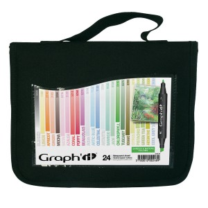 GRAPH'IT Marker, Set of 24 in a wallet - Garden