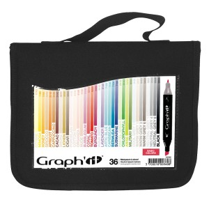 GRAPH'IT Marker, Set of 36 in a wallet - Basic