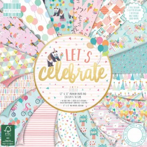 First Edition FSC 12 x 12 Lets Celebrate Paper Pad