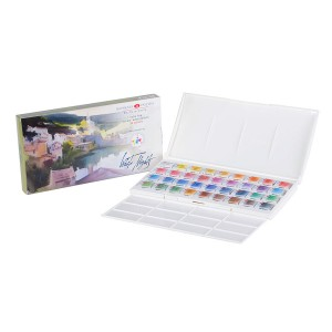 "Water colour ""White Nights"" 36 Pan IWS Set,Plastic box"
