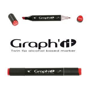 Permanent twin-tip marker, GRAPH'IT