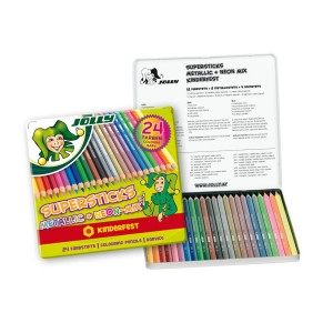 "Set Of School Col.Pencils ""Jolly""  24Pcs"